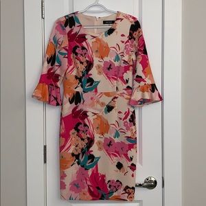 Nine West Colorful 3/4 Sleeve Dress